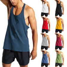 Mens Loose Sleeveless Sport Tops Tank Gym Fitness Workout Trainning Vest Tee US
