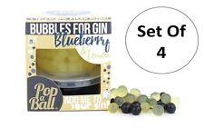 Popaball Set Of 4 Bursting Bubbles For Gin Blueberry & Lemon Flavour Bubble Tea