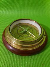 New listing  00006000 Antique Nautical Nautical Compass Wood Brass Finisf Maritime Compass
