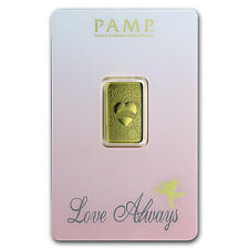 5 gram Gold Bar - PAMP Suisse Love Always (In Assay) - SKU #92827