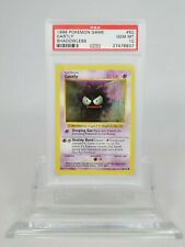 PSA 10 GEM MINT SHADOWLESS Gastly Pokemon Base Set #50/102