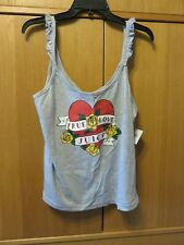Juicy Couture Heather Cozy Heart Tatoo Cami Top - Size XL - NEW with Tags