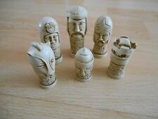 Celtic Heads Fantasy Myths Historical Legends Gothic Model Resin Chess Set