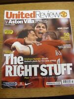 20/08/2005 Manchester United v Aston Villa  . Thanks for viewing our item, if th