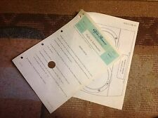 ALFA ROMEO GIULIA 1300/1600/1750-Foglio Informazioni Guide Vetture Giulia 1970