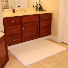 K Mat 32x47 Inch Large Luxury White Bath Soft Gy Bathroom Rugs Non