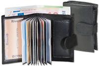 Rinaldo® Kompakte Geldbörse mit 11 Kreditkartentaschen aus Leder in Schwarz