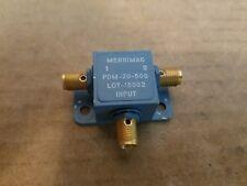 Merrimac Microwave PDM-20-500 5-1000MHz 0-Deg RF Power Divider Combiner SMA(f)