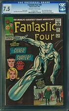 Tu four # 50 us Marvel 1966 silver surfer/Galactus Kirby CGC 7.5 vfn -