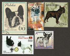 FRENCH BULLDOG ** Int'l Dog Postage Stamp Art Collection *Great Gift Idea *