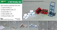 J's Work 1/35 Drinks Set (Hand Trolley+Plastic Bottle Crate+Carton Box, etc...)
