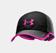 NEW Under Armour Mens Shadow Pip ColdBlack Running Cap-Black/Pink OSFA