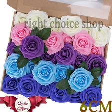 100 Pcs Large 6CM Artificial Flowers Foam Rose Heads Wedding Party Decor Bouquet