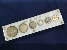 1955 Canada Silver Gem Rainbow Toned Uncirculated Set of 6 Coins  E6572