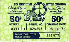 1973 (Various Dates) New Jersey Lottery Tickets - Non Winning