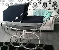 Antique 1967 Wilson Silver Shadow by Silver Cross Baby Carriage Pram Stroller
