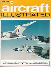 AIRCRAFT ILLUSTRATED JUL 1971 SAAB VIGGEN_CARVAIR_AW SISKIN_RAF PUMA HELO_B-N TR