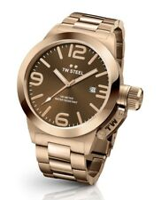 TW STEEL CB191 MENS ROSE GOLD 45MM CANTEEN WATCH - 2 YEARS WARRANTY
