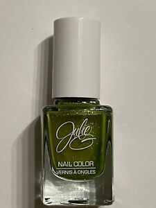 NEW JULIE G NAIL POLISH LACQUER LIME GREEN SHIMMER ISLAND