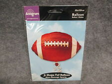 """Anagram Jr. Shape 18"""" Football Foil Balloon Non-Message Sports NEW All Occasion"""