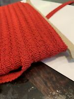 1/2' 14mm Red Scroll Gimp Corded Braid Trim Pm Upholstry Cotton Acetate Blend