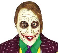 Adult Joker Mask Latex Scary Killer Clown Halloween Costume Fancy Dress