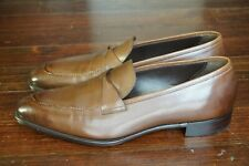 NEW   GAZIANO & GIRLING ANTIBES UK 11 E US 11.5 VINTAGE OAK LEATHER PENNY LOAFER