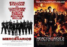 LOS MERCENARIOS 1 y 2 dvd.  Lote de 2 peliculas.