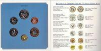 CAPE CABO VERDE - OFFICIAL SET 6 DIF UNC COINS : 1 - 100 ESCUDOS 1994 YEAR BIRDS