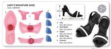 JEM Lady's Miniature Shoe Cutter Set of 5 Gum Paste Cutters #106M020