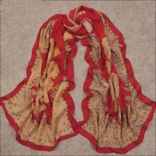 2014 Beautiful Women Lady's Soft Silk paisley georgette Chiffon Scarf Shawl