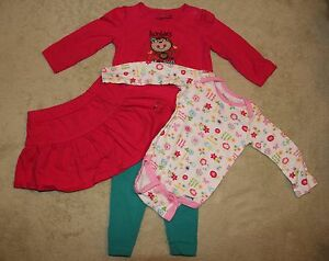 Toddler Girl's 4 Pc Mix Lot Size 12 Months