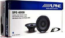 "Alpine SPE-6000 6-1/2"" Car Speakers/6.5"" Car Audio Speaker Type E Series SPE6000"