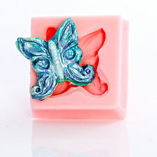 Butterfly Flexible Silicone Mold Fondant Candy Mint Polymer or Metal Clay  (512)