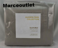 Hudson Park 680 Thread Count Cotton Sateen TWIN Duvet Cover Pewter