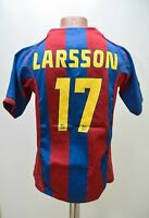 BARCELONA 2004/2005 # 17 LARSSON HOME FOOTBALL SHIRT JERSEY NIKE SIZE YXL