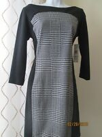 Evan Picone Black White Hounds Tooth Dress, Women's Size 8 RSVP $109
