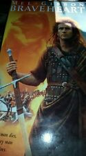 Braveheart VHS 1995 Mel Gibson Color 2 Tapes Paramount