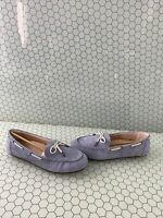 NWB Vionic HONOR VIRGINIA Light Blue Leather Slip On Moccasin Loafers Women's 11