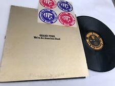 Grand Funk We're An American Band w/stickers Rock Record lp original vinyl album