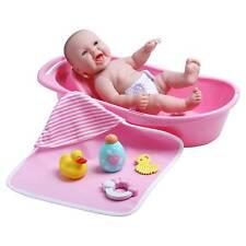 "JC Toys La Newborn 13"" Realistic smiling Baby Doll Bathtub Set with Accessories"
