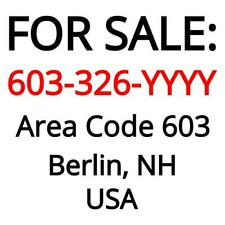 Berlin, NH : 603-326-YYYY