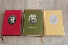 Lot de 3 livres éditions Brocéliande Strasbourg - Rimbaud, Villon, Nerval - EO