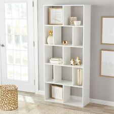 12 Tier Shelves Wall Shelf Stand Wood Display Storage Bookcase Home Furniture