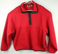 Vintage Woolrich Polartec Mens XL Fleece Quarter Snap Pull Over Red Sweater