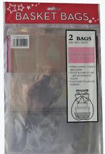 Basket Hamper Gift Bags - Cello Cellophane - Pack Of 2 - 56cm X 76cm - Free Post