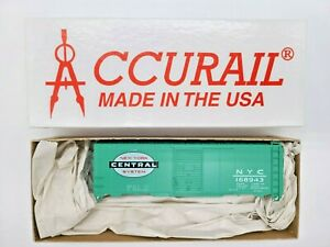 """SALE! HO SCALE ACCURAIL #3524.2 40' STEEL BOXCAR LETTERED FOR """"NYC"""""""