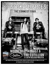 """SICK PUPPIES """"THE CONNECT TOUR"""" 2014 WICHITA CONCERT POSTER - Hard Rock Music"""