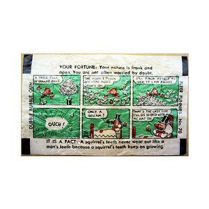 Rare 1930's Fleer Dubble Bubble Stick Figures Wax Comic No. 70