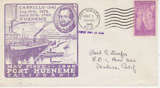 POSTAL HISTORY - EVENT COVER FDC PORT HUENEME CALIFORNIA EVENT MAY 1, 1940